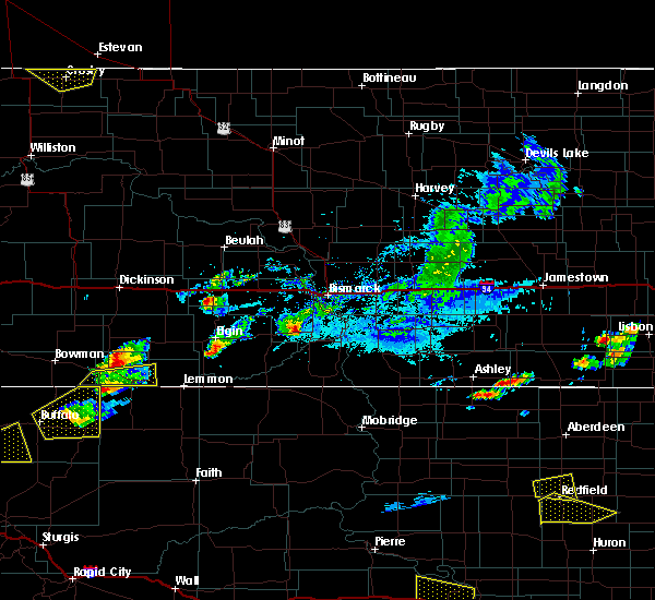 Radar Image for Severe Thunderstorms near Bucyrus, ND at 7/5/2020 5:59 PM MDT