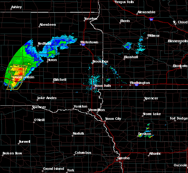 Radar Image for Severe Thunderstorms near Alpena, SD at 7/5/2020 7:53 PM CDT
