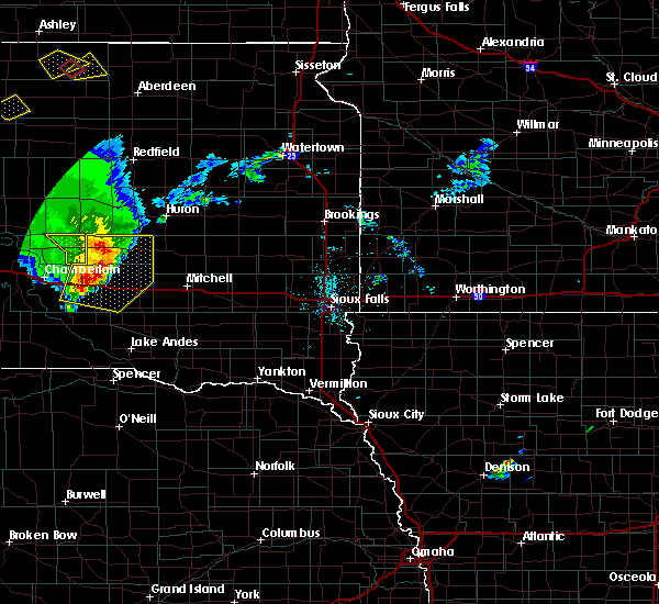 Radar Image for Severe Thunderstorms near Alpena, SD at 7/5/2020 8:19 PM CDT