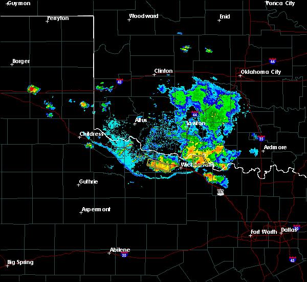 Radar Image for Severe Thunderstorms near Henrietta, TX at 7/5/2020 8:27 PM CDT