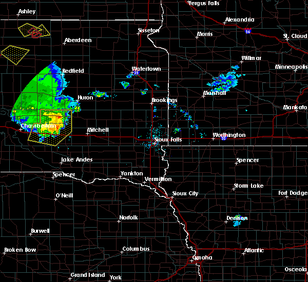 Radar Image for Severe Thunderstorms near Alpena, SD at 7/5/2020 8:39 PM CDT