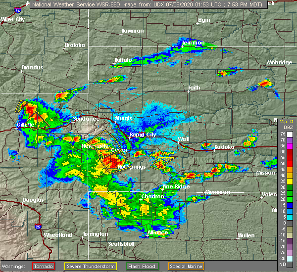 Radar Image for Severe Thunderstorms near Blackhawk, SD at 7/5/2020 8:03 PM MDT
