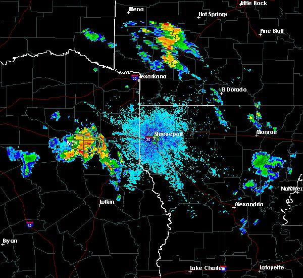 Radar Image for Severe Thunderstorms near Kilgore, TX at 7/5/2020 9:09 PM CDT