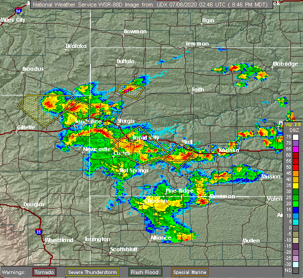 Radar Image for Severe Thunderstorms near Blackhawk, SD at 7/5/2020 8:48 PM MDT