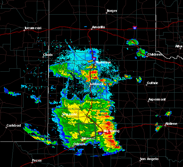 Radar Image for Severe Thunderstorms near Lorenzo, TX at 7/5/2020 11:31 PM CDT