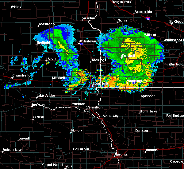 Radar Image for Severe Thunderstorms near Chester, SD at 7/6/2020 4:56 AM CDT