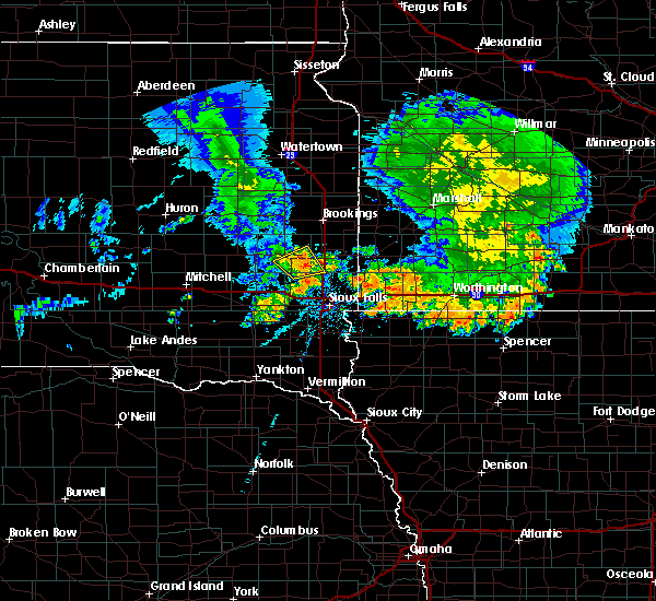 Radar Image for Severe Thunderstorms near Chester, SD at 7/6/2020 5:09 AM CDT