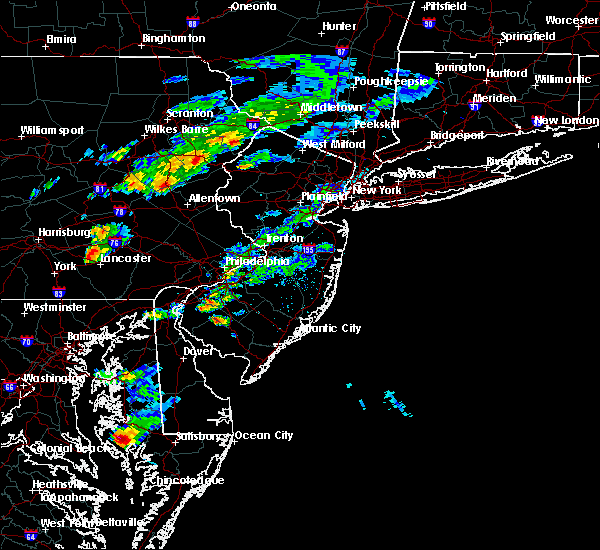 Radar Image for Severe Thunderstorms near Brickerville, PA at 6/30/2015 5:38 PM EDT