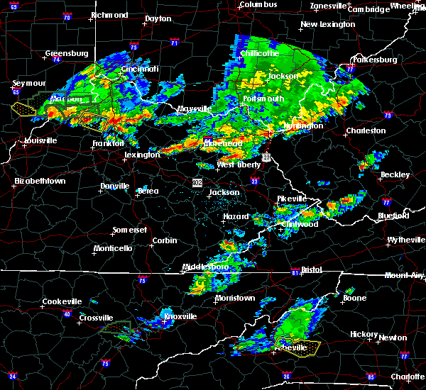 Radar Image for Severe Thunderstorms near Morehead, KY at 6/30/2015 5:42 PM EDT