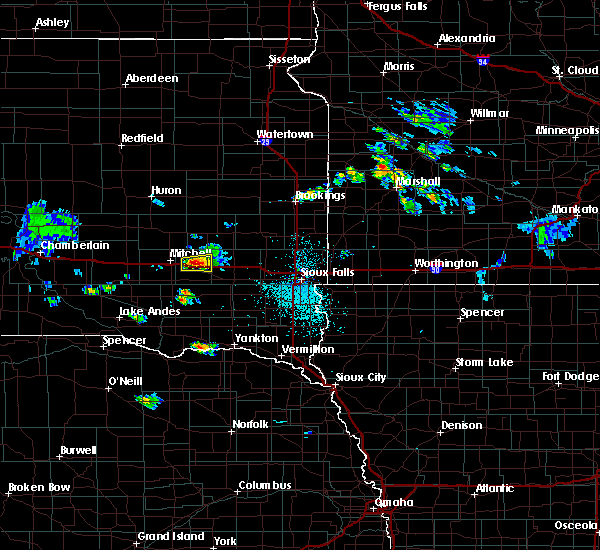 Radar Image for Severe Thunderstorms near Fulton, SD at 7/6/2020 1:47 PM CDT