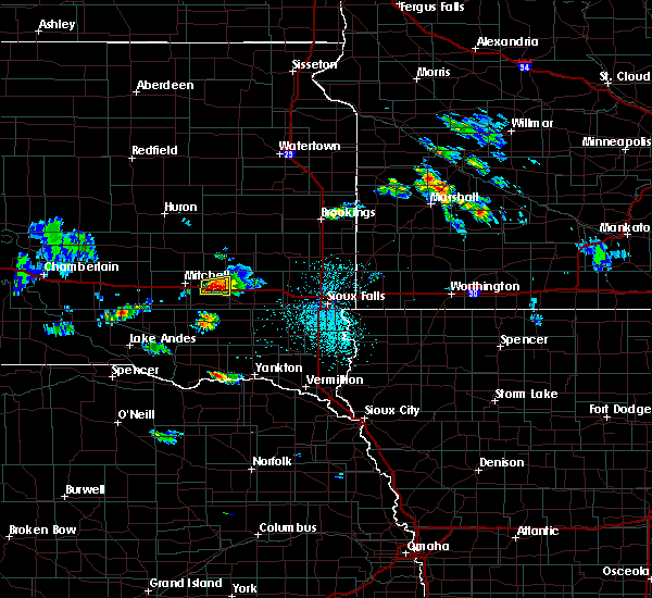 Radar Image for Severe Thunderstorms near Emery, SD at 7/6/2020 2:01 PM CDT