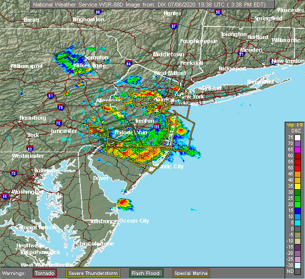 Radar Image for Severe Thunderstorms near Fullerton, PA at 7/6/2020 3:42 PM EDT
