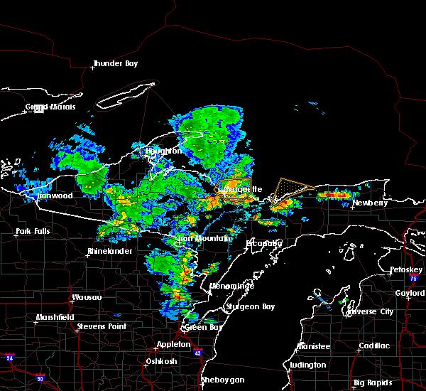 Radar Image for Severe Thunderstorms near Munising, MI at 7/6/2020 3:49 PM EDT