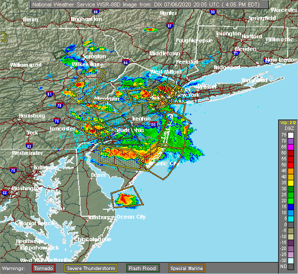 Radar Image for Severe Thunderstorms near Fullerton, PA at 7/6/2020 4:09 PM EDT