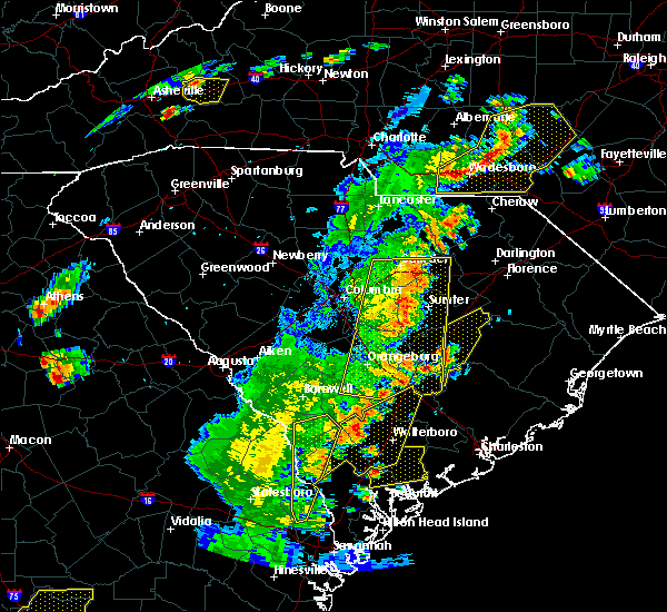 Radar Image for Severe Thunderstorms near Manning, SC at 6/30/2015 5:45 PM EDT