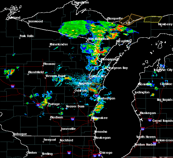 Radar Image for Severe Thunderstorms near Reedsville, WI at 7/6/2020 3:18 PM CDT