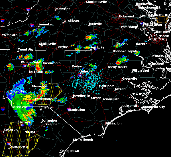Radar Image for Severe Thunderstorms near Ansonville, NC at 6/30/2015 5:48 PM EDT