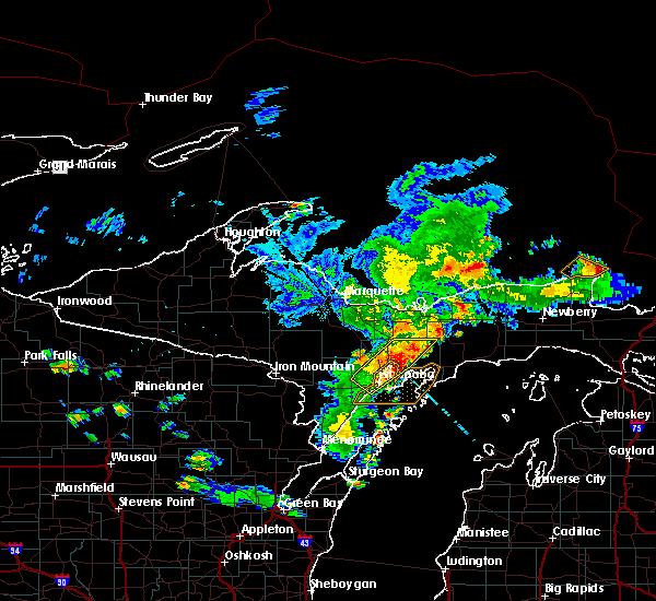 Radar Image for Severe Thunderstorms near Manistique, MI at 7/6/2020 5:30 PM EDT