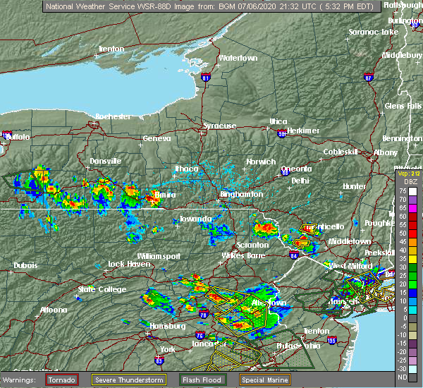 Radar Image for Severe Thunderstorms near South Corning, NY at 7/6/2020 5:38 PM EDT