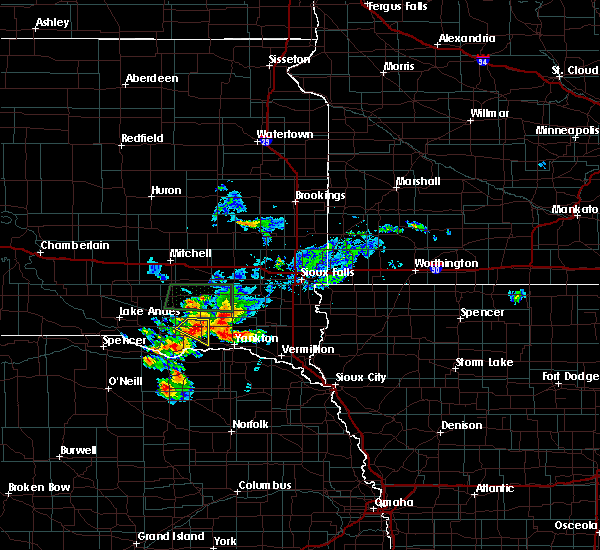 Radar Image for Severe Thunderstorms near Volin, SD at 7/6/2020 4:41 PM CDT