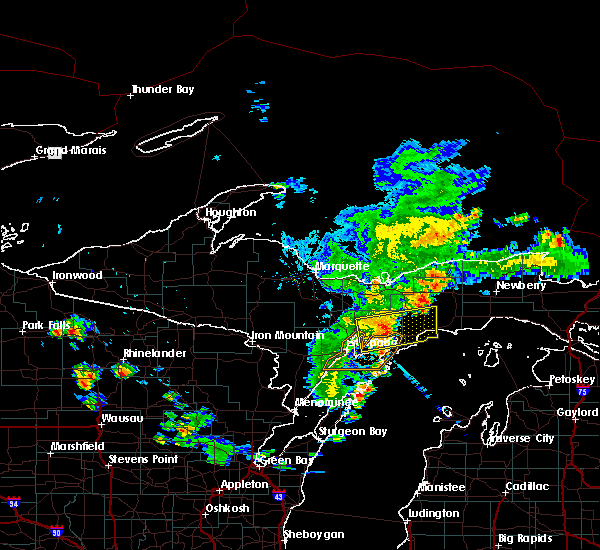 Radar Image for Severe Thunderstorms near Manistique, MI at 7/6/2020 5:50 PM EDT