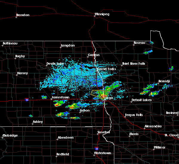 Radar Image for Severe Thunderstorms near Harwood, ND at 7/6/2020 4:53 PM CDT