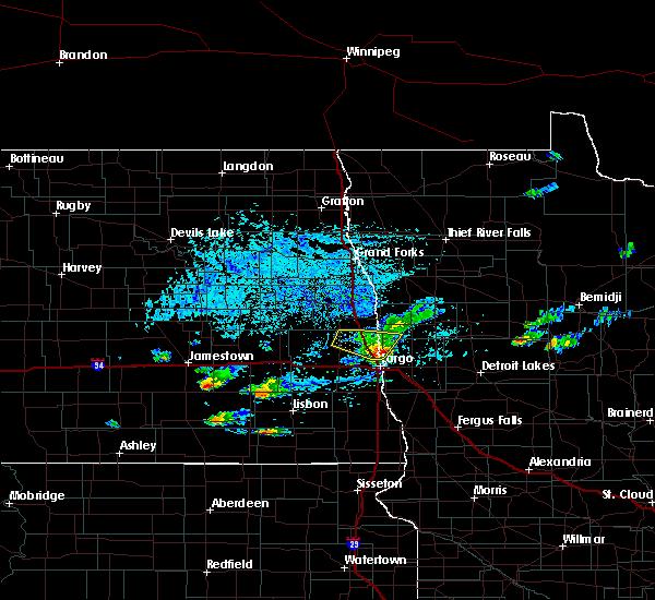 Radar Image for Severe Thunderstorms near Fargo, ND at 7/6/2020 4:53 PM CDT
