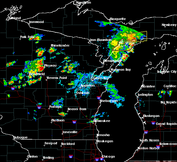 Radar Image for Severe Thunderstorms near Mosinee, WI at 7/6/2020 4:57 PM CDT