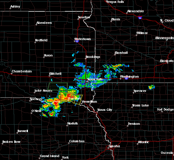 Radar Image for Severe Thunderstorms near Volin, SD at 7/6/2020 5:06 PM CDT