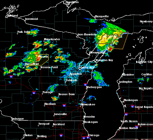 Radar Image for Severe Thunderstorms near Mosinee, WI at 7/6/2020 5:08 PM CDT