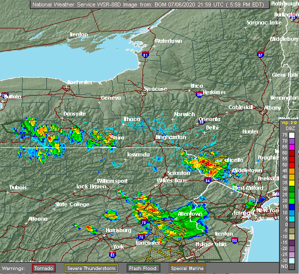 Radar Image for Severe Thunderstorms near South Corning, NY at 7/6/2020 6:09 PM EDT
