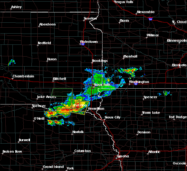 Radar Image for Severe Thunderstorms near Crofton, NE at 7/6/2020 5:19 PM CDT