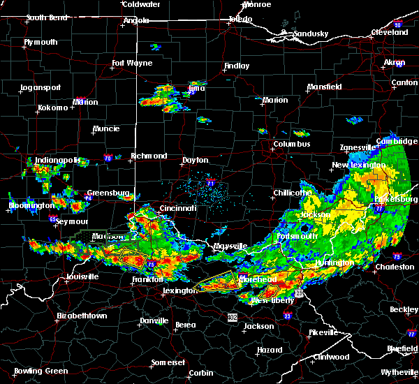 Radar Image for Severe Thunderstorms near Owenton, KY at 6/30/2015 5:58 PM EDT