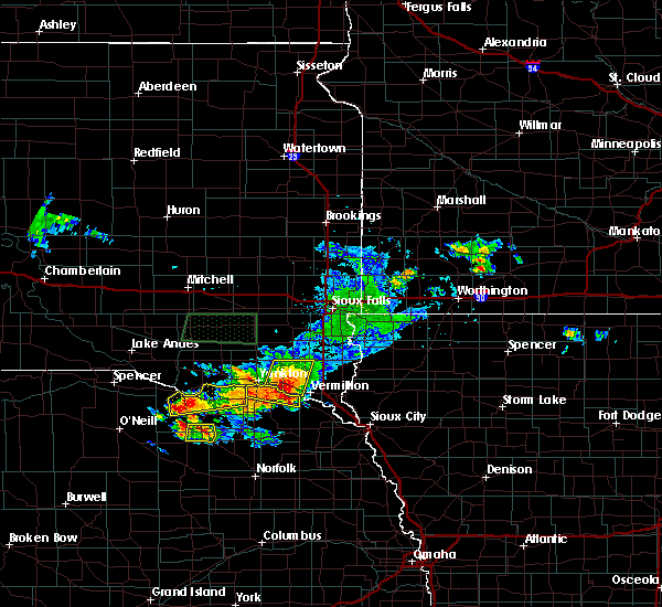 Radar Image for Severe Thunderstorms near Gayville, SD at 7/6/2020 5:32 PM CDT