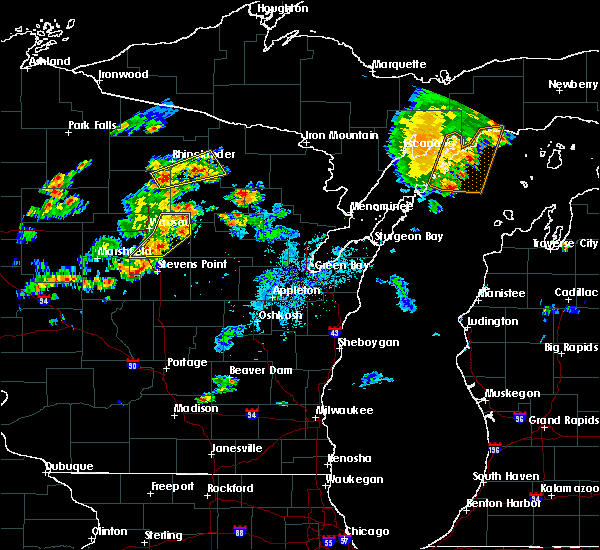 Radar Image for Severe Thunderstorms near Mosinee, WI at 7/6/2020 5:33 PM CDT