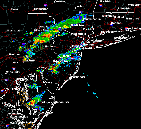 Radar Image for Severe Thunderstorms near Farmersville, PA at 6/30/2015 5:58 PM EDT