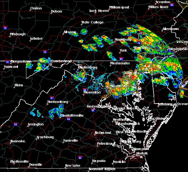 Radar Image for Severe Thunderstorms near McLean, VA at 7/6/2020 6:59 PM EDT