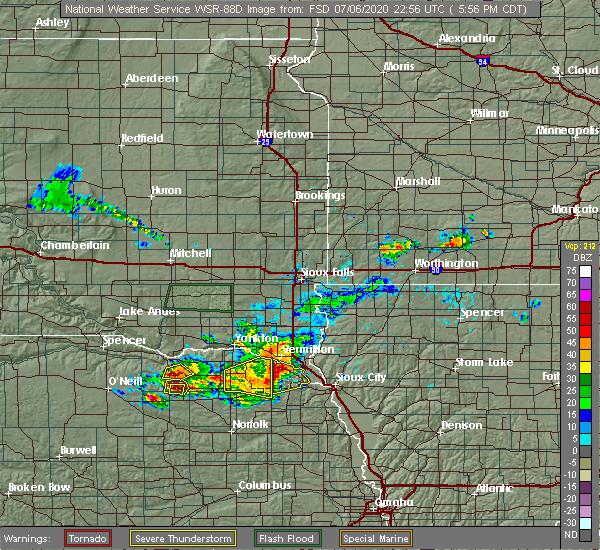 Radar Image for Severe Thunderstorms near Magnet, NE at 7/6/2020 6:01 PM CDT