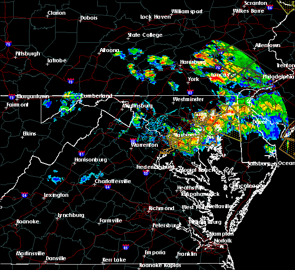 Radar Image for Severe Thunderstorms near Bowleys Quarters, MD at 7/6/2020 7:10 PM EDT