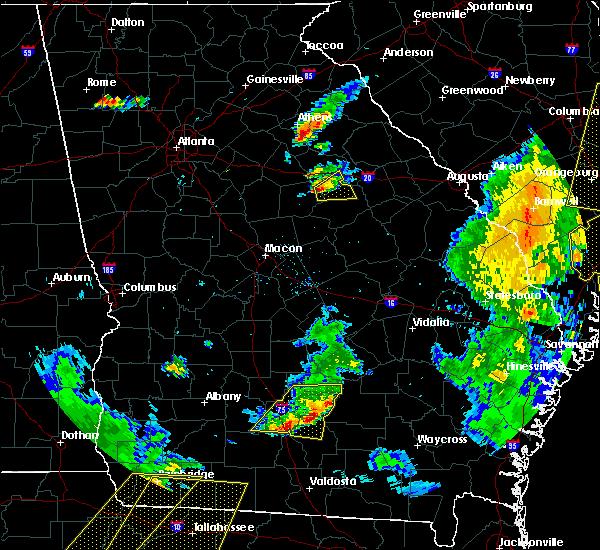 Radar Image for Severe Thunderstorms near White Plains, GA at 6/30/2015 6:01 PM EDT