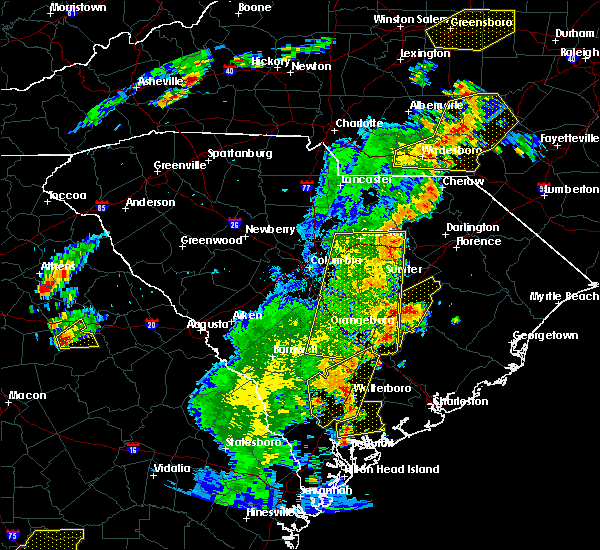 Radar Image for Severe Thunderstorms near Oswego, SC at 6/30/2015 6:06 PM EDT