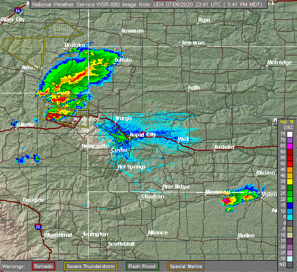 Radar Image for Severe Thunderstorms near Beulah, WY at 7/6/2020 5:46 PM MDT