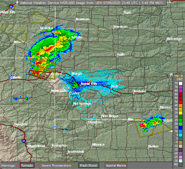 Radar Image for Severe Thunderstorms near Beulah, WY at 7/6/2020 5:53 PM MDT