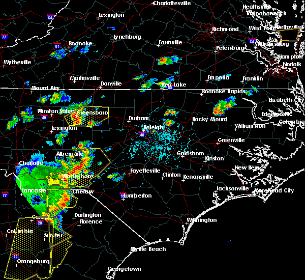 Radar Image for Severe Thunderstorms near Sanford, NC at 6/30/2015 6:09 PM EDT