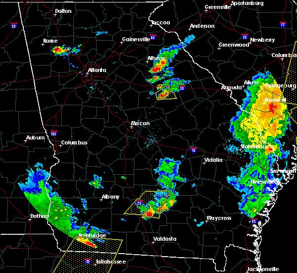 Radar Image for Severe Thunderstorms near White Plains, GA at 6/30/2015 6:14 PM EDT