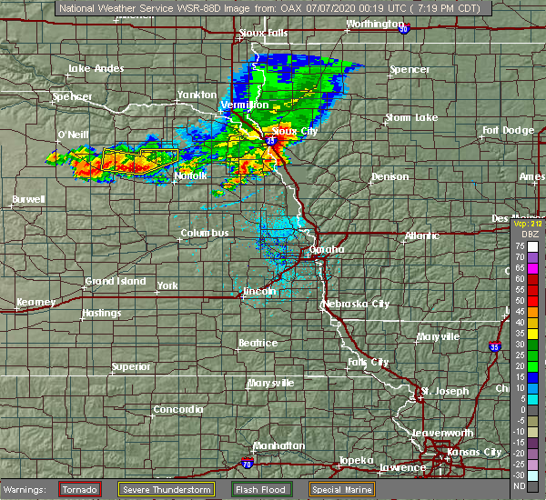 Radar Image for Severe Thunderstorms near Royal, NE at 7/6/2020 7:24 PM CDT
