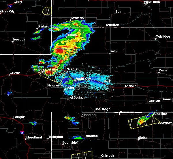 Radar Image for Severe Thunderstorms near Deadwood, SD at 7/6/2020 6:38 PM MDT