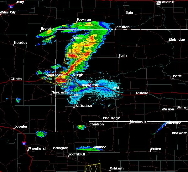 Radar Image for Severe Thunderstorms near Deadwood, SD at 7/6/2020 6:57 PM MDT