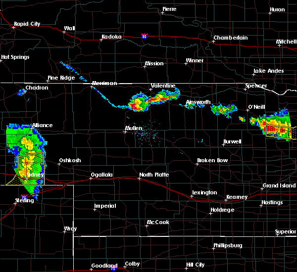 Radar Image for Severe Thunderstorms near Brownlee, NE at 7/6/2020 7:58 PM CDT