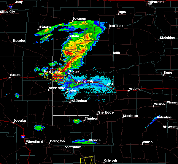 Radar Image for Severe Thunderstorms near Deadwood, SD at 7/6/2020 6:58 PM MDT